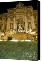 Statue Canvas Prints - Trevi Fountain. Rome Canvas Print by Bernard Jaubert