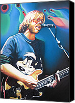 Singer Drawings Canvas Prints - Trey Anastasio and Lights Canvas Print by Joshua Morton