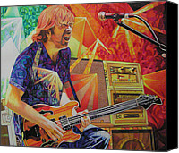 Close Canvas Prints - Trey Anastasio Squared Canvas Print by Joshua Morton