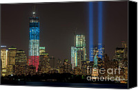 New York Harbor Canvas Prints - Tribute in Light XIII Canvas Print by Clarence Holmes
