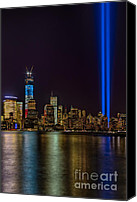 The City That Never Sleeps Canvas Prints - Tribute In Lights Memorial Canvas Print by Susan Candelario