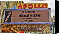Apollo Theater Canvas Prints - Tribute Canvas Print by June Marie Sobrito