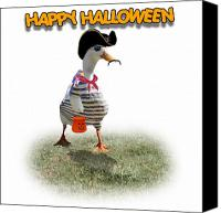Gx9 Canvas Prints - Trick or Treat for Capn Duck Canvas Print by Gravityx Designs