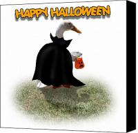 Gx9 Canvas Prints - Trick or Treat for Count Duckula Canvas Print by Gravityx Designs