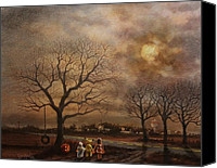 Moon Canvas Prints - Trick-or-treat Canvas Print by Tom Shropshire