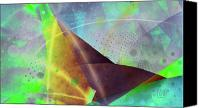 Triangles Digital Art Canvas Prints - Trilogy Canvas Print by Dan Turner