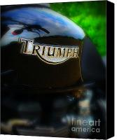 Badge Canvas Prints - Triumph Canvas Print by Perry Webster