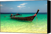 Thai Canvas Prints - Tropical Boat Canvas Print by Adrian Evans