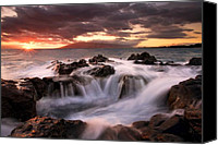 Rocks Canvas Prints - Tropical Cauldron Canvas Print by Mike  Dawson