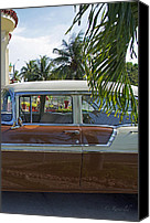 Cienfuegos Canvas Prints - Tropical Chevy Canvas Print by Cheri Randolph