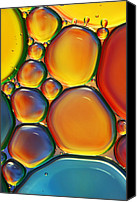 Abstract Water Canvas Prints - Tropical Oil and Water II Canvas Print by Sharon Johnstone