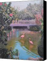 Florida Bridge Painting Canvas Prints - Tropical Paradise Canvas Print by Patty Weeks