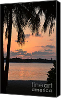 Beach Pictures Canvas Prints - Tropical Sunset Canvas Print by Corinne Rhode