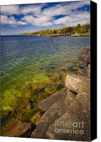 Door County Canvas Prints - Tropical Waters of Door County Wisconsin Canvas Print by Shutter Happens Photography