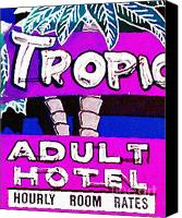 Hotels Digital Art Canvas Prints - Tropicana Adult Hotel Canvas Print by Wingsdomain Art and Photography