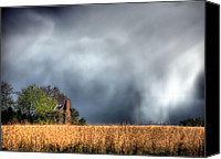 Raining Canvas Prints - Trouble Brewing  Canvas Print by JC Findley