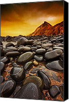 Pebbles Canvas Prints - Troublesome Sky Canvas Print by Mark Leader