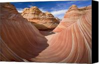 Sandstone  Canvas Prints - Trough of the Wave Canvas Print by Mike  Dawson