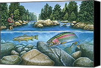 Fish Canvas Prints - Trout View Canvas Print by JQ Licensing