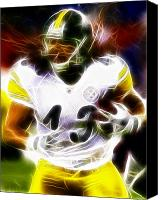 Steelers Canvas Prints - Troy Polamalu Canvas Print by Paul Van Scott