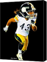 Steel City Canvas Prints - Troy Polamalu Canvas Print by Stephen Younts