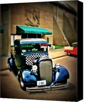Old Trucks Canvas Prints - Truck for sale Canvas Print by Perry Webster