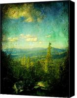 Sky Canvas Prints - Truckee Trails Canvas Print by Leah Moore