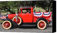 4th July Canvas Prints - Truckin On The 4th Canvas Print by Kurt Gustafson