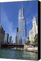 Skyline Canvas Prints - Trump Tower Chicago Canvas Print by Adam Romanowicz
