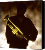 Brass Canvas Prints - Trumpet 1 Canvas Print by Tony Cordoza