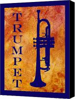Brass Band Canvas Prints - Trumpet Canvas Print by Jenny Armitage