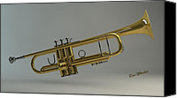 Louis Ferreira Art Canvas Prints - Trumpet Canvas Print by Louis Ferreira