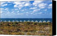 Ocean Front Landscape Canvas Prints - Truro Cottages Canvas Print by John Greim