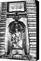 Library Canvas Prints - Truth Beareth Away the Victory bw Canvas Print by John Rizzuto