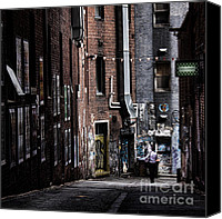 Alley Canvas Prints - Tryst Canvas Print by Andrew Paranavitana