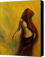 Nude Painting Canvas Prints - Tu Solo Tu Canvas Print by Niki Sands