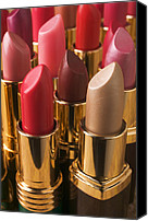 Make-up Canvas Prints - Tubes Of Lipstick Canvas Print by Garry Gay