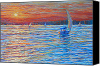 Summer Pastels Canvas Prints - Tuesdays End Canvas Print by Michael Camp
