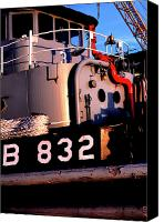 1987 Canvas Prints - Tug Boat Canvas Print by Thomas R Fletcher