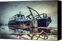 Barge Canvas Prints - Tug in the Fog Canvas Print by Everet Regal