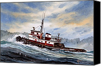 Tugboat Canvas Prints - Tugboat EARNEST Canvas Print by James Williamson