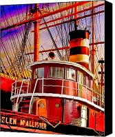 South Street Seaport Canvas Prints - Tugboat Helen McAllister Canvas Print by Chris Lord