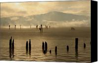 Pilings Canvas Prints - Tugboat in the Mist Canvas Print by Idaho Scenic Images Linda Lantzy