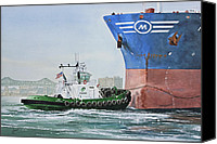 Tugboat Canvas Prints - Tugboat LEO FOSS Canvas Print by James Williamson