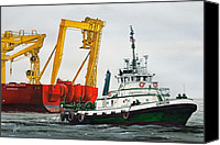 Tugboat Canvas Prints - Tugboat ORION FOSS Canvas Print by James Williamson