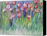 Imaging Painting Canvas Prints - Tulip Bed Canvas Print by Don  Wright