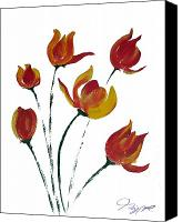 Seattle Drawings Canvas Prints - Tulip One Canvas Print by Jalal Gilani