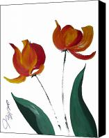 Seattle Drawings Canvas Prints - Tulip Two Canvas Print by Jalal Gilani