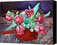 Fine Art - Still Lifes Canvas Prints - Tulips Canvas Print by Enzie Shahmiri