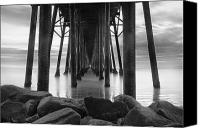 Seaside Canvas Prints - Tunnel of Light - Black and White Canvas Print by Larry Marshall